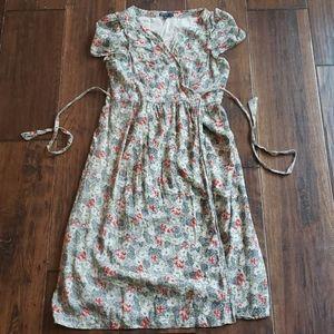 Gap maternity cherry blossom wrap dress